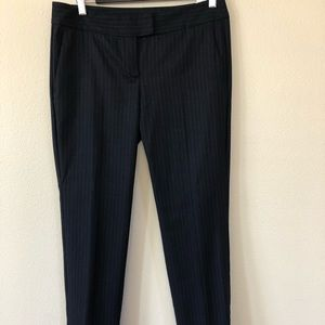 Max&co black and white pinstripe trousers